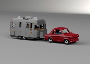 airstream gancio traino veicolo in 3d il modello di stampa il veicolo auto flusso d'aria 684 trailer modello giochi i giocattoli caravan 3d il camper il design modelli art di trasporto il campeggio di viaggio