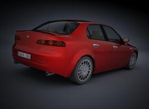 alfa romeo 159 alfa romeo 159 car model strom909 slrr games  poly red sorts sedan italian design