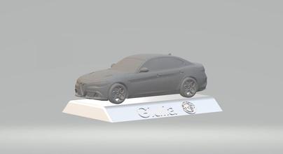 alfa romeo giulia 3d car model high quality 3d printing stl file alfa romeo giulia 3d stl file printing files auto collectibles model car