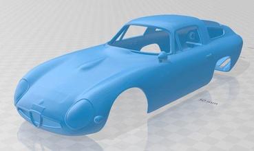 alfa romeo Giulia tz 1963 stampabile corpo macchina alfa romeo Giulia tz 1963 stampabile corpo macchina fessura scalextric tamiya rc miniz passatempo micro