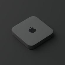 apple mac mini dark grey  electronics electronics-gadgets pc lowpoly minimalist design gadgets apple laptop table desktop