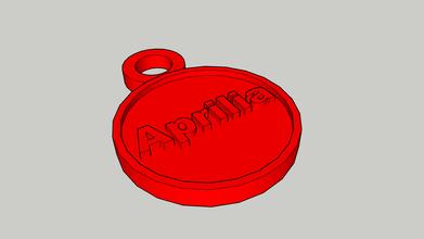 aprilia keychain aprilia keychain red model3d