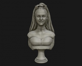 ariana grande sculpture ready 3d print 3d print model ariana grande singer sculptures bust portrait statue art