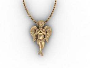 bebé ángel collar ángel bebé querubín de navidad cupido el diamante el esmalte joya la joyería de la matriz el collar colgantes de la escultura escultura tienda de regalos la estatua día de san valentín