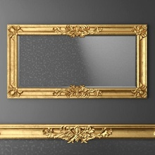 baroque frame mirror classic artframe picture pictureframe art carved  anticue antic antique barocco traditional vray v-ray ray gold baroque luxury frame