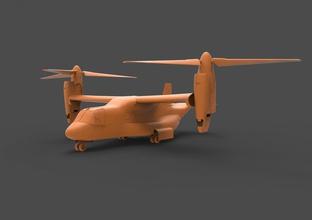 bell boeing v-22 military transport v-22 osprey v22 22 aircraft mv-22 airplane helicopter bell cv-22 plane propeller tiltrotor marine vtol realistic vray
