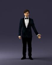 chico traje arco Corbata 0462 3d impresión Listo 3d escanear modelo polígono 3dprint humano masculino realista planteado personaje personas miniaturas hombre mujer niño estilo éxito Moda