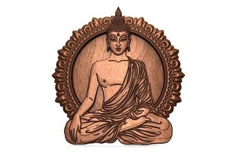 Buda cnc Buda cnc bas relief arte deco budismo mandala