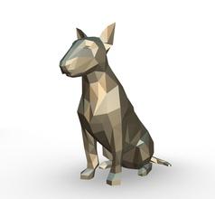 Stier Terrier Zahl Stier Terrier Zahl Kunst Geschenk drucken Lowpoly 3dprint Tier Dekor Innere Design Miniaturen Skulptur Statue Spielzeug Karikatur Papercraft Origami Hund