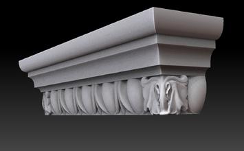 el capitel pilastra de la pared de mármol de la arquitectura art edificio ornamento la estatua decoración interior cnc 3dprinting