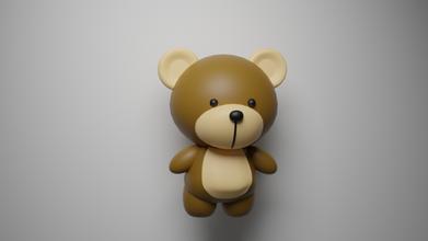 cartoon bear bear animal cartoon character bear-character characters bears toy art art-toy printable 3d-print cartoon-bear cartoon-bears cartoon-character cartoon-characters