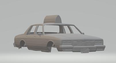 chevrolet Capricho Taxi ruedas calientes fundido presión scx espacio coche vehiculo tragamonedas stl imprimible carrera caza caliente hotrod nómada impala