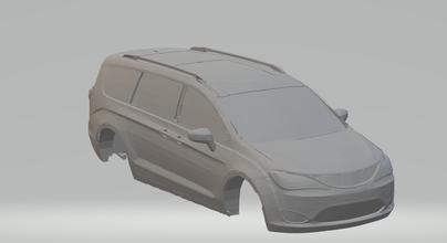 Chrysler pacifica ruedas calientes fundido presión scx espacio coche vehiculo tragamonedas stl imprimible rcmodel esquivar mopar caravana camioneta