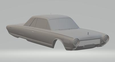 Chrysler turbina 1963 ruedas calientes fundido presión scx espacio coche vehiculo tragamonedas stl imprimible esquivar carrera mopar