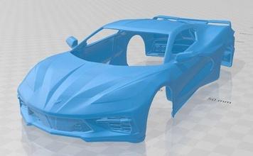 corvette c8 stingray 2020 printable body car corvette c8 stingray 2020 printable body car slot scalextric tamiya rc miniz hobby micro