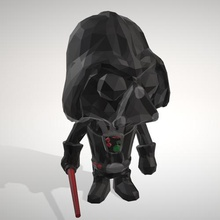 darth vader - lowpoply collection figurine - objoy darth vader star wars figurine lowpoly