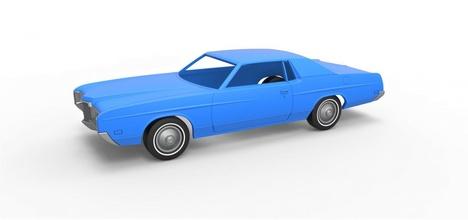 fundido presión cáscara ruedas 1971 escala 1 25 coche vehiculo vehículo fundido presión escamoso cáscara clásico vieja escuela juguete impresión imprimible
