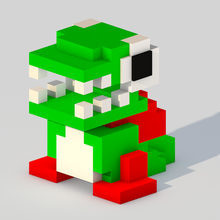 dig dug - green monster dig dug nintendo monster game retro videogame pixel voxel