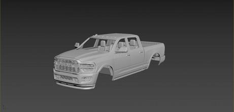 esquivar RAM 2500 2020 cuerpo impresión etiqueta coche coches pasatiempo americano auto automotor esquivar RAM 2500 2020 camión coche vehiculo deporte modelo imprimir coche impresión manejar rc juguete plastico