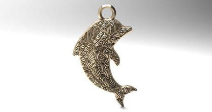 dolphin mandala zentangle pendant 1 dolphin fish sea ocean pendant mandala zentangle animal nature keychain jewelry cnc router