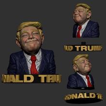 donald trump 3d print model donald-trump-print-model donald-trump-stl-files donald-trump-3d-printing donald-trump-sculpture donald-trump-meme donaldtrump3dprint