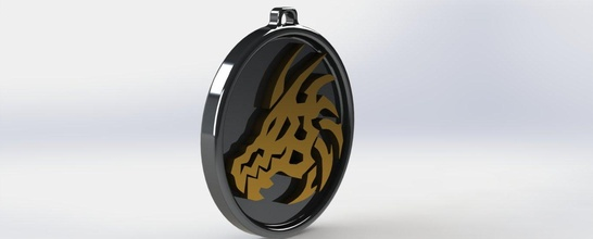 Dragão cabeça pingente arte anime colar 3dprint 3dmodel Accessorie moda legal joalheria pingentes símbolo jóia ilustração pingente sifi animal ápice Dragão resina mofo