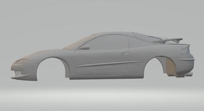 Águia garra hotwheels diecast scx fenda carro slotcar stl imprimível rcmodel eclipse Mitsubishi 3000gt
