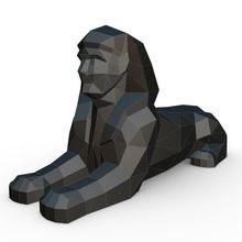 egipcio esfinge egipcio esfinge Egipto 3d modelo impresión Listo imprimible criatura humanoide hombre león animal estatua faraón Dios cabeza personaje fantasía