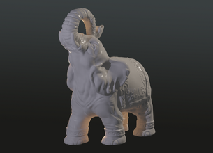 elephant figurine 3d printing sculpture animal 3d printing model art design statue