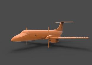 embraer emb 120 e120 e-120 emb-120 emb120 120 embraer brasilia emb airplane aircraft air lowpoly low-poly low