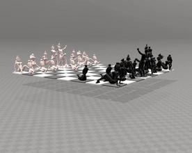 érotique jeu d'échecs gratuit érotique les échecs ensemble jouer jeu jeux sexy nude nu art le roi la reine medelis3d medelis 3d stl gratuit