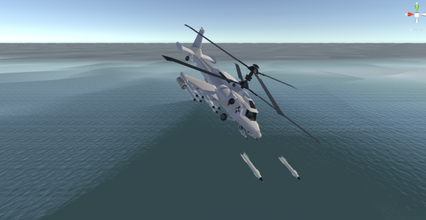 fantasy military helicopter--arctic battle bear - games helicopter military war battlefield shooter gameready gameassets combat-helicopter attack-helicopter fantasy-helicopter battle battle-helicopter war-veichle aircraft minigan war-assets game-assets veichle missiles army