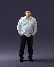 gordura homem camisa 0498 3d impressão pronto 3d Varredura modelo polígono 3dprint humano masculino realista posado personagem miniaturas homem mulher criança estilo sucesso moda beleza