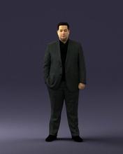 gordura homem terno 0490 3d impressão pronto 3d Varredura modelo polígono 3dprint humano masculino realista posado personagem miniaturas homem mulher criança estilo sucesso moda beleza