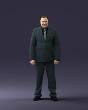 gordura homem terno listrado gravata 0505 3d impressão pronto 3d Varredura modelo polígono 3dprint humano masculino realista posado personagem miniaturas homem mulher criança estilo sucesso