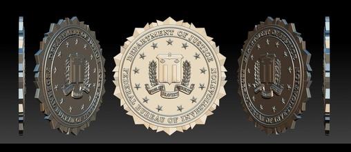 FBI foca 3d Distintivos detetive 3dprintable FBI foca pulseiras 3d piercings brincos mão acessórios imprimível distintivo Distintivos polícia exército militares multidão controle escudo xerife