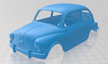fiat 600 1960 - seat 600 printable body car fiat 600 seat printable body car shell rc radio control tamiya slot scalextric spain italy 1960