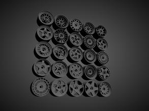 fünfzehn52 druckbar Felgen Sammlung heiße Reifen 1 64 Rahmen Druckguss heiße Reifen Streichholzschachtel Majorette Tomica Kyosho Druckguss Miniaturen Fahrzeuge 164