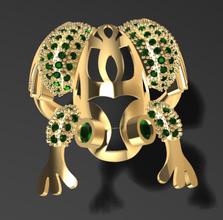 frog ring 3d print model ring jewelry sterling silver jewel wedding printable diamond jewellery gemstone platinum engagement gem gold finger apparel frog brillant rings
