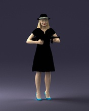 bandit fille 0921 1 3d impression prêt 3d analyse modèle polygone Impression 3D Humain Masculin réaliste posé personnage miniatures homme femme enfant style vêtements mode réduire