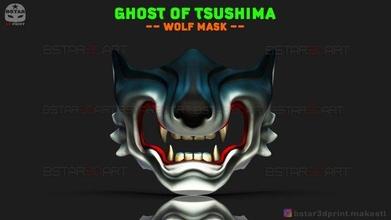 ghost tsushima - wolf mask - samurai cosplay mask 3d print model ghost-of-tsushima mask cosplay helmet costume devil-japanese japan-mask ghostoftsushima ghost-of-tsushima-mask ghost-mask hannya-mask oni-mask halloween-mask face-mask covid-mask samurai-mask horror-mask wolf-mask