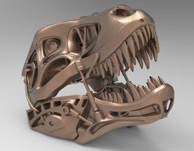 head terminator rex 3d model 3dmodel 3dprint print3d printable art sculpture cg stl game head terminator rex sculpt