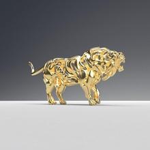hueco ataque león figurilla estructura metálica 3d Arte escultura diseño desenfreno depredador modelo impresión gato impresión estatua esculturas miniaturas figuritas rabia Rey gruñido furia león