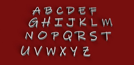 inkfree font uppercase lowercase 3d letters stl file alphabet letters 3dletters 3dprint 3dmodel text font fonts decorations gadget wor sign