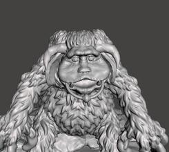 inspired jim henson movie labrinth 1986 ludo version 2 knocker ring ludo labyrinth labyrinth1986 laberinto jim henson jimhenson knocker ring