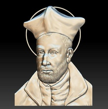jesuit pietro favre - relief - 2018 art portrait man sculpture old religion saint jesuit pietro favre relief basrelief god goddes icon catholic