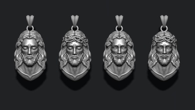 jesus pendants pack jewelry printable necklace christ religiou object jesu head face jewish cross christianity god cathedral holy bible nazareth character thorns silver