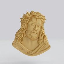 jesus representation face jesus pendant bas-relief gold silver jewelry face representation