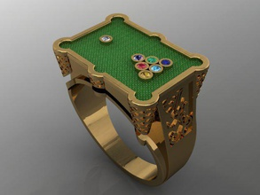jewellery ring pool biliard billiard bilyard briliant diamond fashion gold jewel jewellery jewelry man pool printable pul ring rings signet silver stone