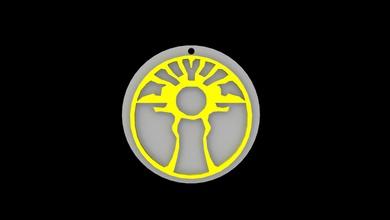 legacy kain sunlight glyph symbol 3d print ready legacy kain soul reaver sunlight glyph symbol necklaces